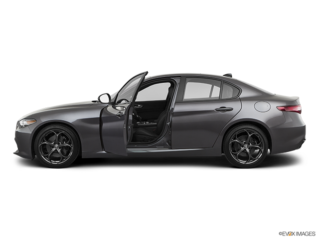 2020 Alfa Romeo Giulia Driver's side profile with drivers side door open