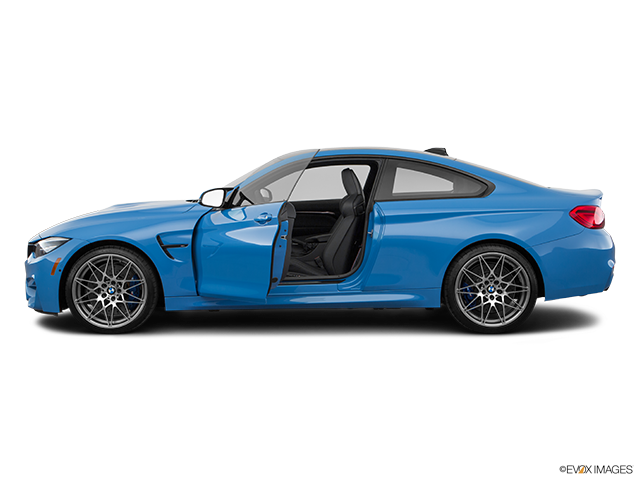 2020 BMW M4 Driver's side profile with drivers side door open