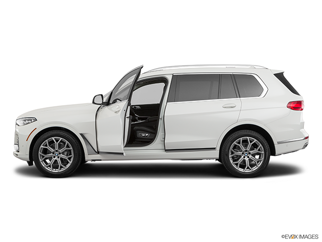 2020 BMW X7 Driver's side profile with drivers side door open