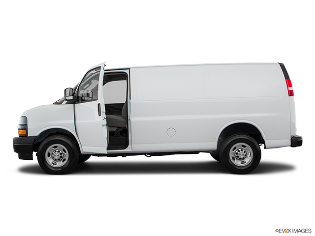 2020 Chevrolet Express Cargo Driver's side profile with drivers side door open