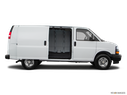 2020 Chevrolet Express Cargo Passenger's side view, sliding door open (vans only)