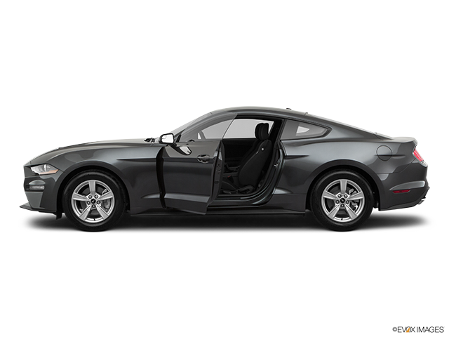 2020 Ford Mustang Driver's side profile with drivers side door open