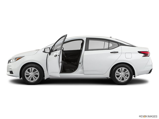 2020 Nissan Versa Driver's side profile with drivers side door open