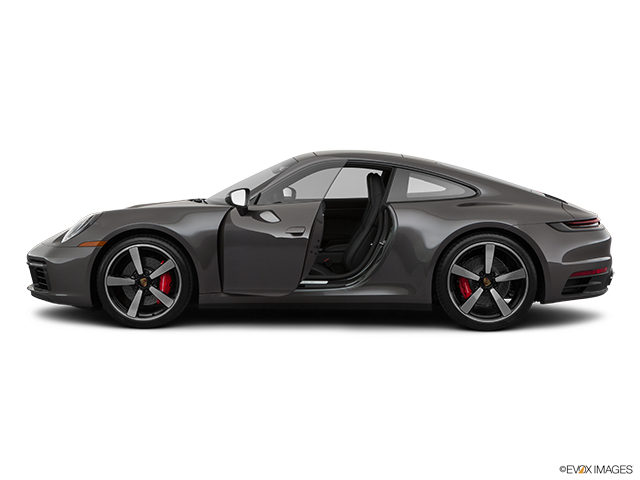2020 Porsche 911 Driver's side profile with drivers side door open