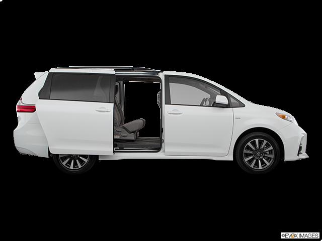 2020 Toyota Sienna Passenger's side view, sliding door open (vans only)